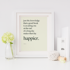 10 inspirational quotes that will make you curl up with a book tonight (+ free book art print)